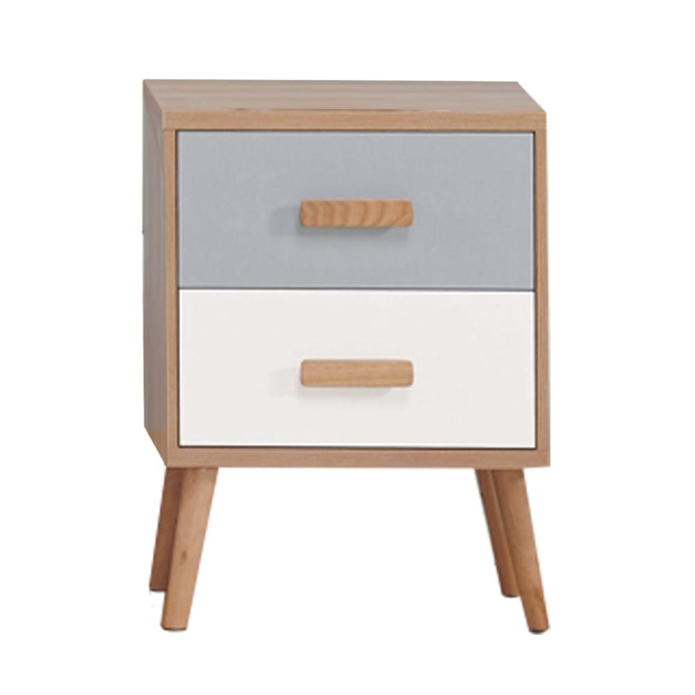 文創集 費羅亞 現代1.6尺二抽雙展示櫃/收納櫃-48x30x64.5cm免組
