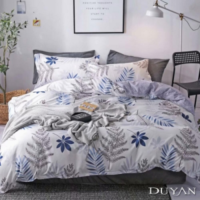 DUYAN竹漾 MIT 天絲絨-雙人床包被套四件組-南卡羅來納
