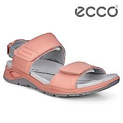 ECCO X-TRINSIC. 簡約單色戶外運動涼鞋 女-粉