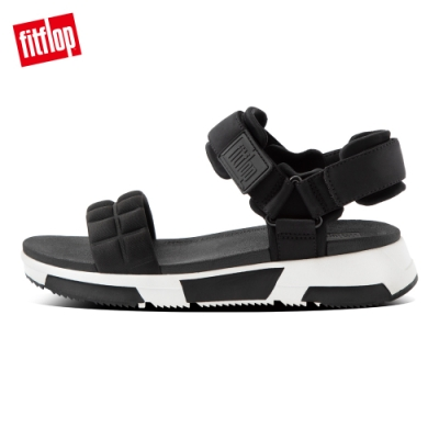 FitFlop HAYLIE QUILTED CUBE BACK-STRAP SANDALS後帶涼鞋-女(靚黑色)