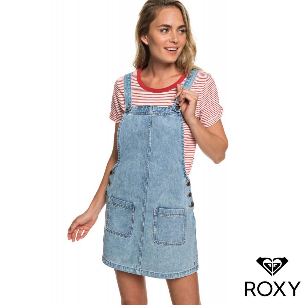 【ROXY】LOVE TO TRAVEL 牛仔吊帶裙