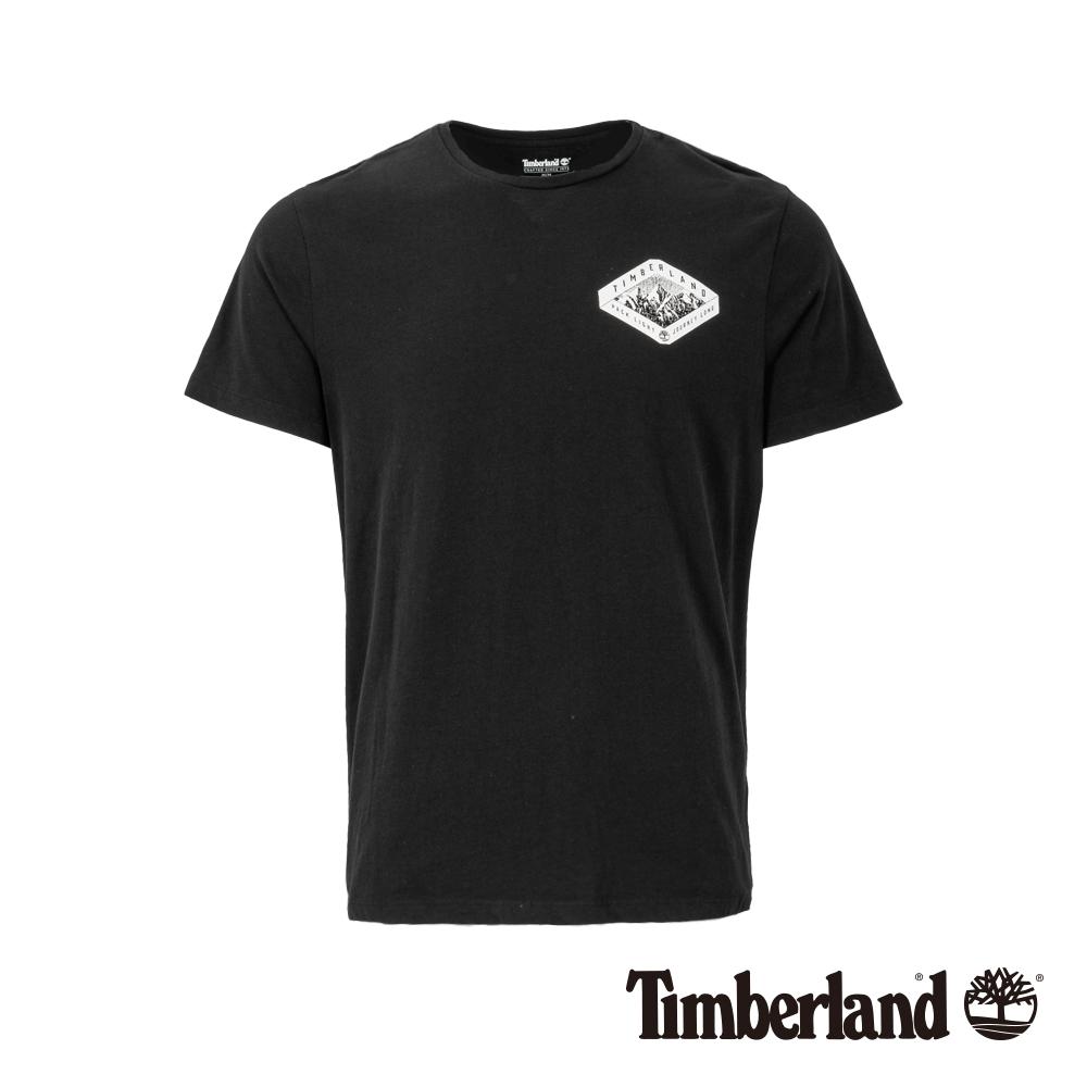 Timberland 男款黑色圓領短袖T恤|A1X1R