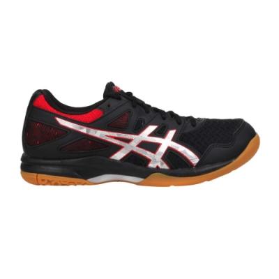 ASICS GEL-TASK 2 男排羽球鞋-排球 羽球 羽毛球 亞瑟士 1071A037-004 黑紅銀