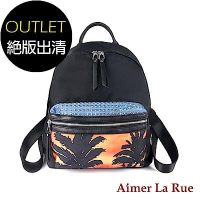 Aimer La Rue 後背包 真皮尼龍熱帶風情系列(絕版出清)