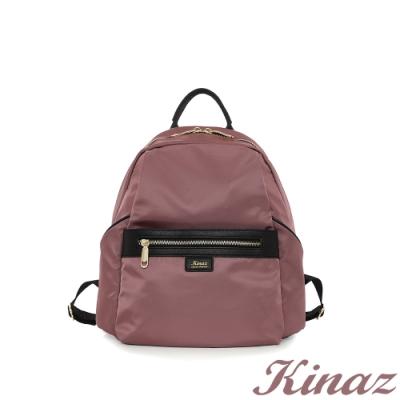 KINAZ casual 大容量防潑水手提後背包-迷霧粉紫-輕甜漫遊系列