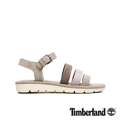 Timberland 女款淡米色絨面皮革繫帶涼鞋|A1XVJ