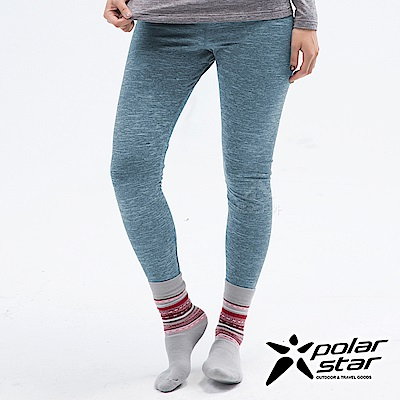 PolarStar 女 遠紅外線保暖褲『灰藍』 P18432