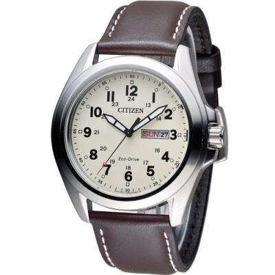 CITIZEN 光動能復古豪傑時尚腕錶(AW0050-15A)
