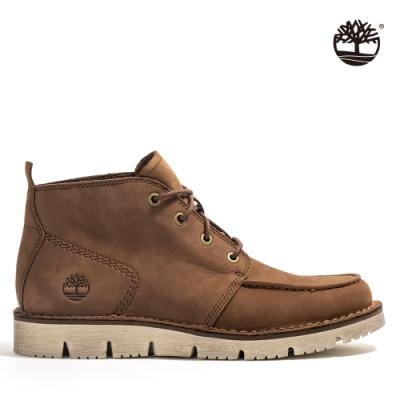 Timberland 男款咖啡色Westmore磨砂革查卡靴 A41Z1