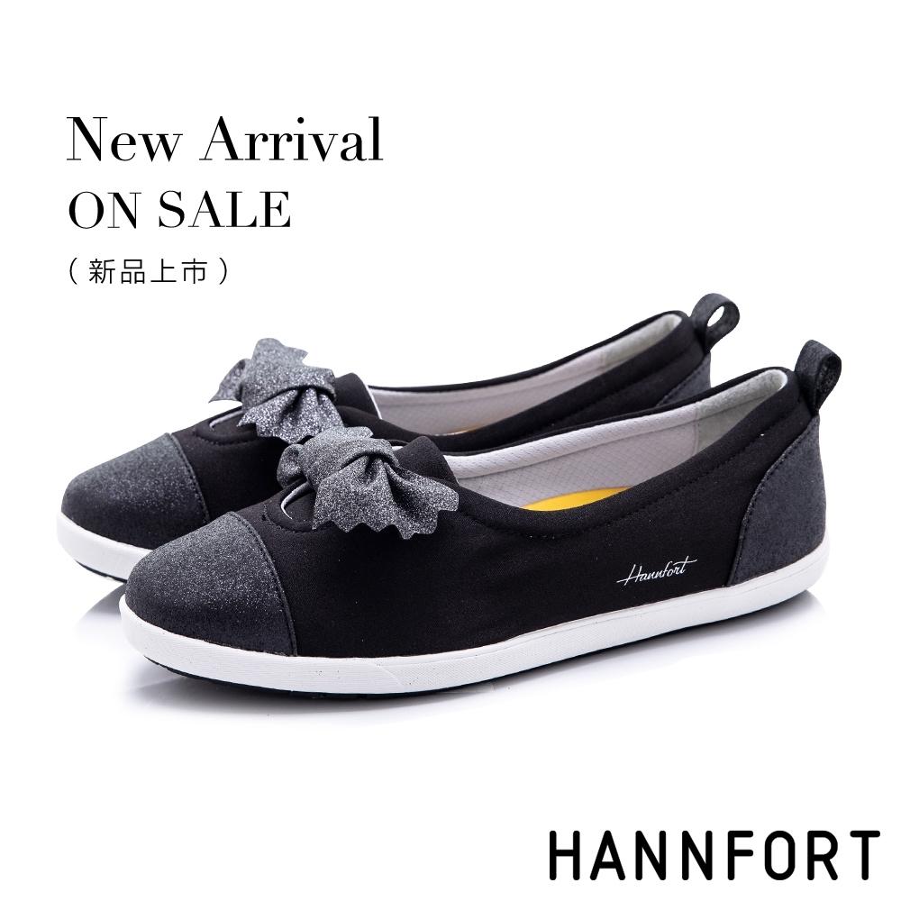HANNFORT CALIFORNIA 星沙扭結糖果休閒鞋-女-黑