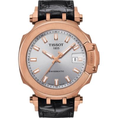 TISSOT 天梭 T-RACE SWISSMATIC 機械錶-45mm T1154073703100