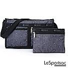 LeSportsac - Standard雙口袋斜背包-附化妝包(輕吻)