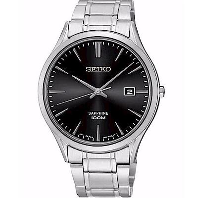 SEIKO 精工/ 典藏尊榮石英腕錶/黑/7N42-0FW0D(SGEG95P1)