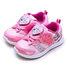 Disney 迪士尼 冰雪奇緣 FROZEN 兒童電燈慢跑鞋 粉紅桃 94413