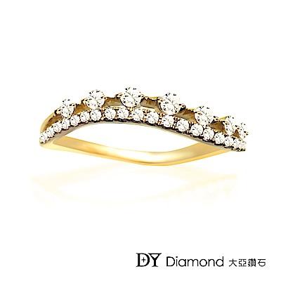 DY Diamond 大亞鑽石 L.Y.A輕珠寶 18黃K金 輕奢 鑽石線戒