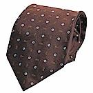 MARC JACOBS 繽紛字母品牌圖騰LOGO高質感絲質領帶(咖啡色系)