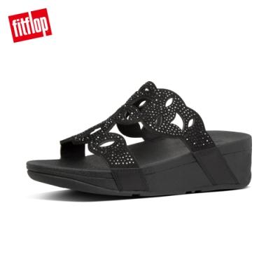 FitFlop ELORA CRYSTAL SLIDES水鑽造型涼鞋-女(靚黑色)
