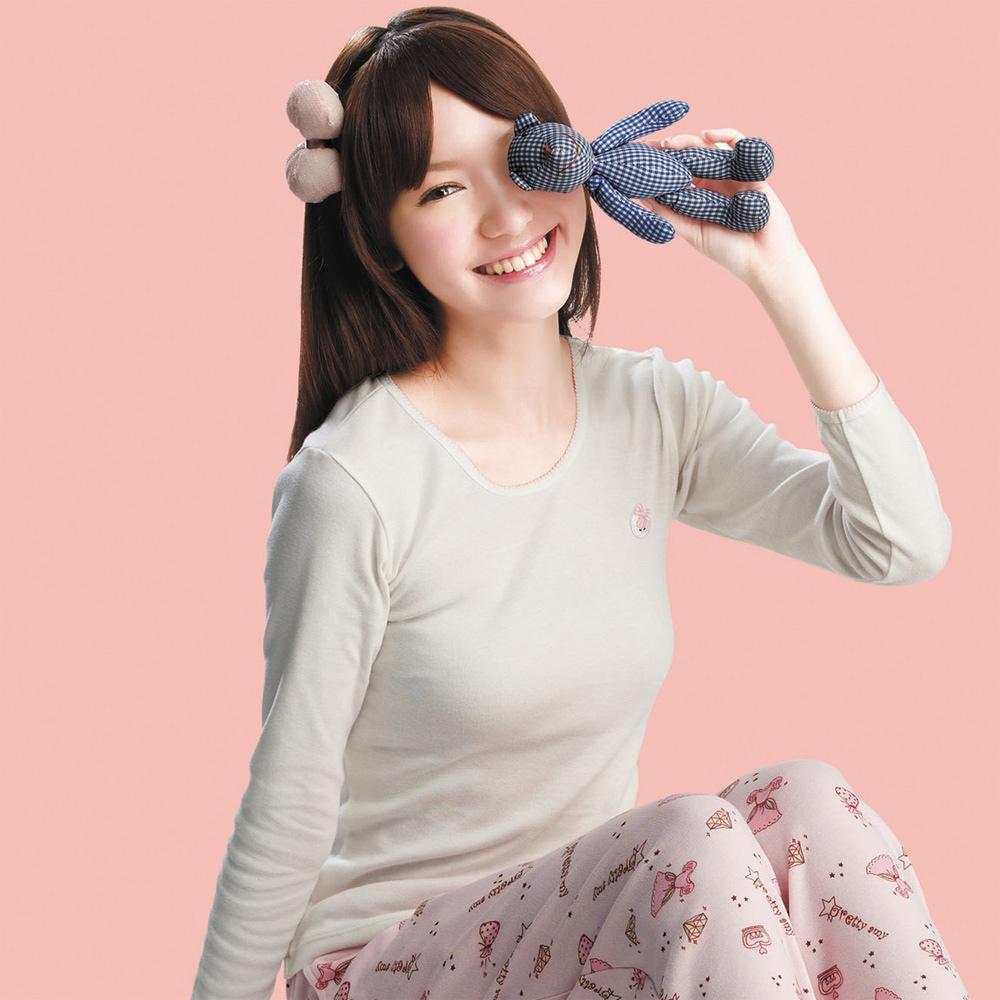 嬪婷-小童120.140 內搭圓領長袖(白)有機棉-環保素材-吸濕透氣