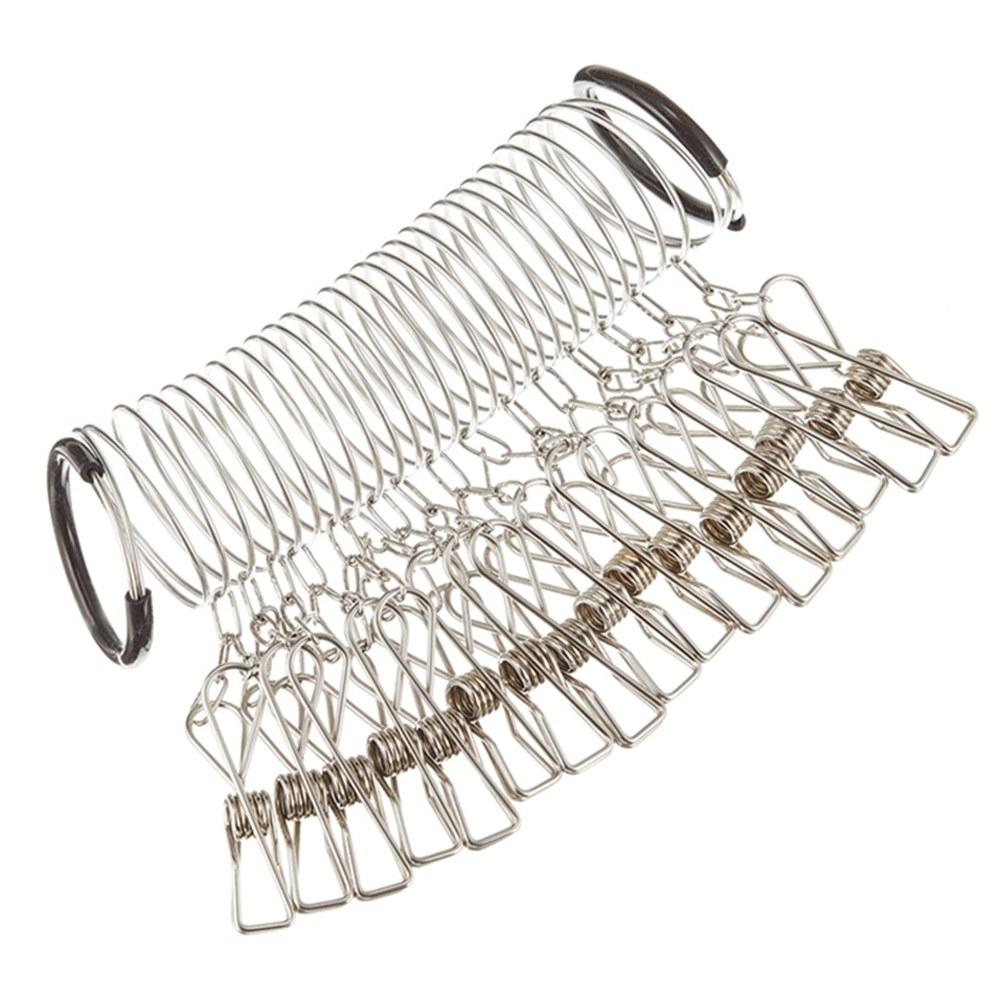 日本製杉山金屬sugimetal曬衣桿掛衣繩用螺旋掛勾環KS-2641(長約2公尺;附16晾衣夾)