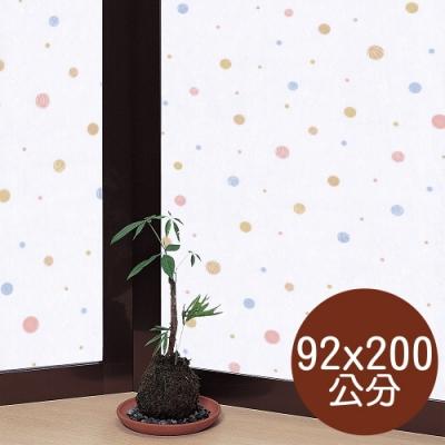 ★促銷★〔日本MEIWA〕抗UV靜電窗貼 (和風彩球)92x200公分
