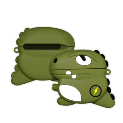 AirPodsPro保護套 藍牙耳機 閃電恐龍 造型 保護套 AirPods Pro 耳機 保護殼-閃電恐龍*1