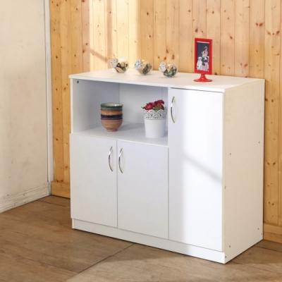 BuyJM 低甲醛防潑水三門廚房櫃/電器櫃90x39x82公分