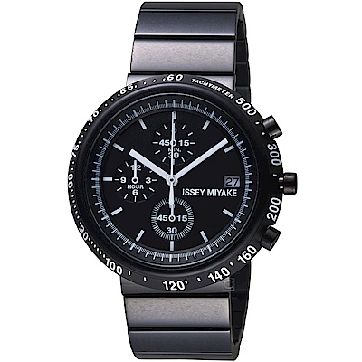 ISSEY MIYAKE三宅一生TRAPEZOID系列計時腕錶(SILAZ001Y)-黑