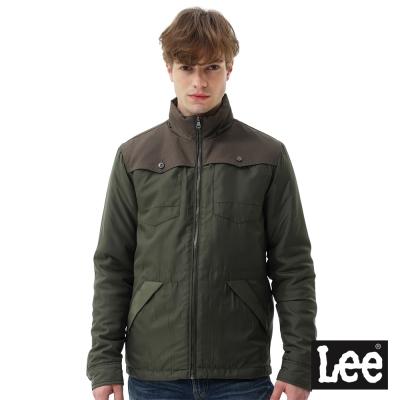 Lee 連帽可收式舖棉外套RG-男款-綠色