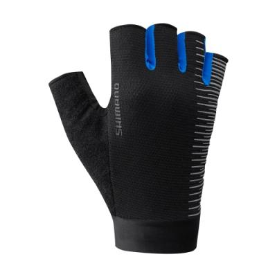 【SHIMANO】CLASSIC 男款半指手套 藍