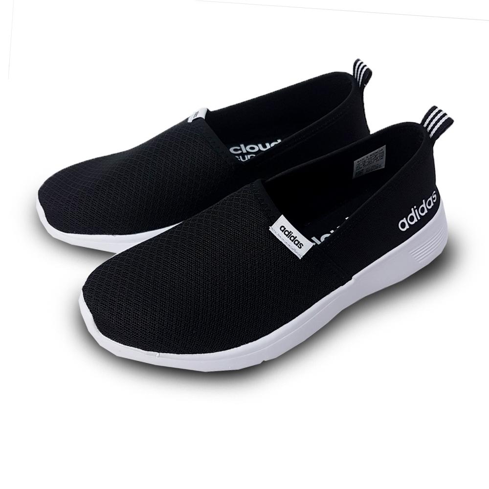 ADIDAS 休閒鞋  無鞋帶 好穿脫 懶人鞋 厚底 女鞋 黑 白 F98974