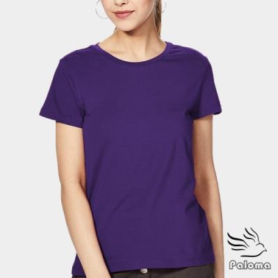 Paloma台灣製極涼感網眼排汗衫女款-紫色 女T 短T
