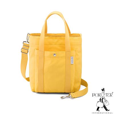 PORTER - 生活選物PUFF小型百搭托特包 - 粉蠟黃色