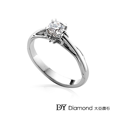 DY Diamond 大亞鑽石 18K金 0.30克拉 D/VS1 心形爪求婚鑽戒