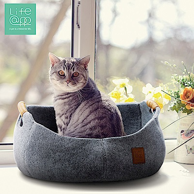 Lifeapp 貓咪籃子-氣質灰