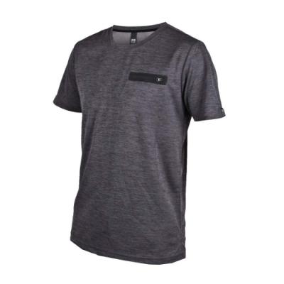 FIRESTAR 男吸濕排汗短袖圓領T恤-慢跑 路跑 麻花灰