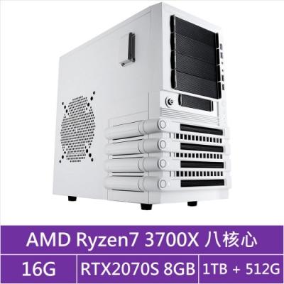 (無卡分期12期)技嘉X570平台[藍焰武神]R7八核RTX2070S獨顯電玩機