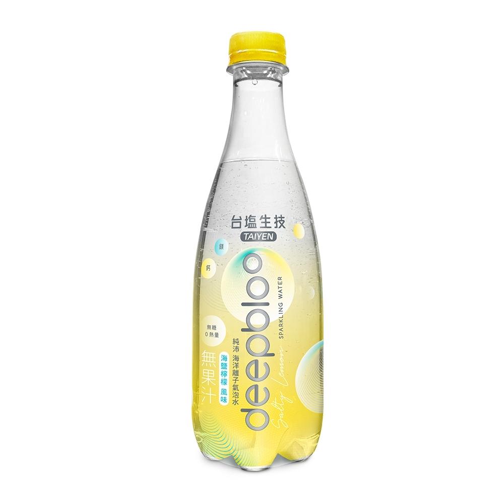 台鹽deepbloo 純沛海洋離子氣泡水-海鹽檸檬風味(500mlx24罐)
