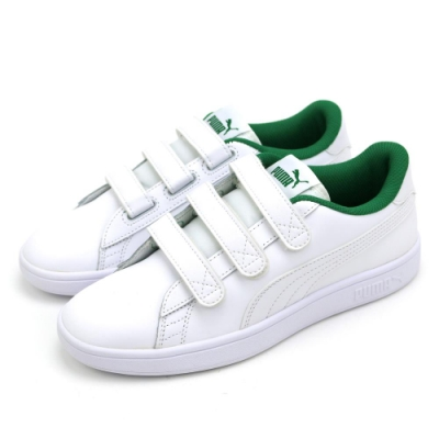 PUMA Smash v2 V男女休閒鞋-36691001 白