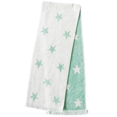 日本丸真 Eco de COOL 涼感運動毛巾 星星綠