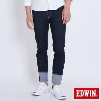 EDWIN 503 基本五袋 窄直筒牛仔褲-男-原藍色