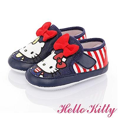 HelloKitty 雙胞胎系列 輕量減壓寶寶學步童鞋-藍紅