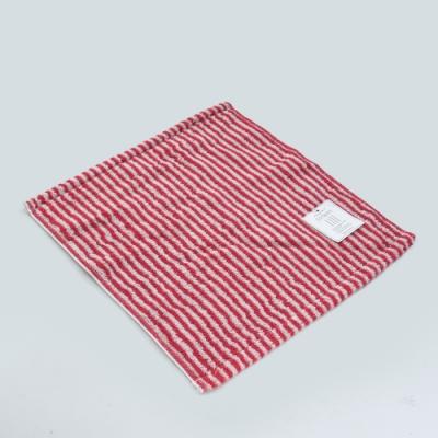 日本愛子 Hartwell 今治簡約細條紋方巾-紅