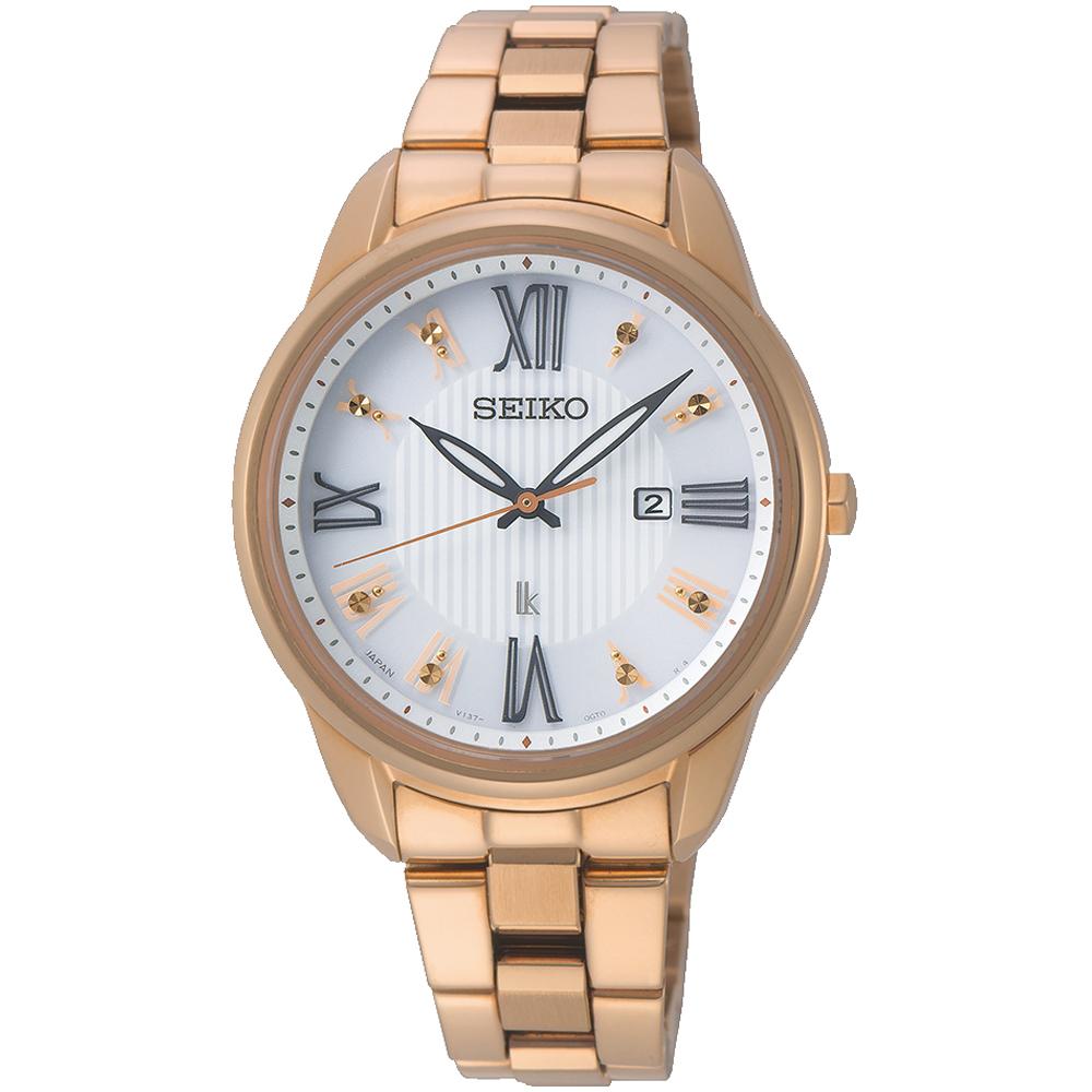 SEIKO精工LUKIA廣告款花漾時光太陽能腕錶(SUT364J1)