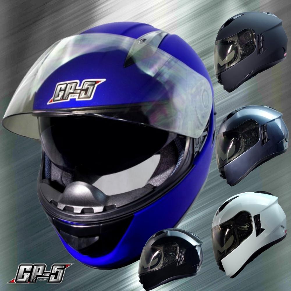 【GP-5】 素色內墨鏡 高階全罩安全帽│機車│內襯│雙鏡片│抗UV│GOGORO (白色)