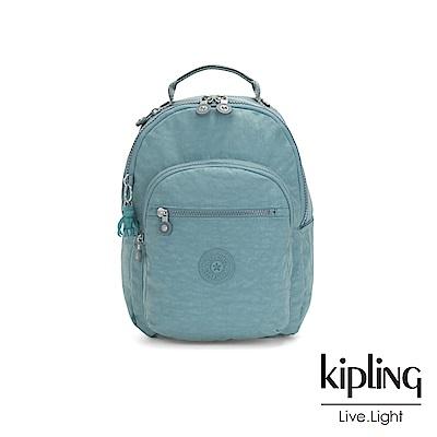 Kipling 冰霜綠機能手提後背包-SEOUL S