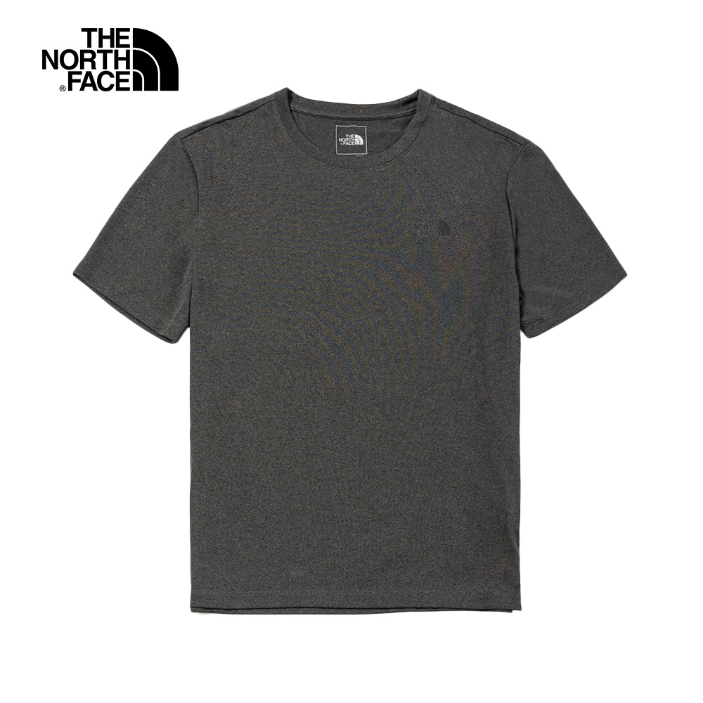 The North Face北面男款深灰色吸濕排汗耐磨短袖T恤|46KXDYZ