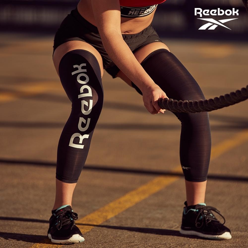 Reebok 溫控修復訓練腿套(經典黑/湖水綠) (經典黑)