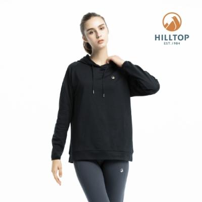 【hilltop山頂鳥】女款ZISOFIT保暖抗菌刷毛上衣H51FI9魚子醬黑