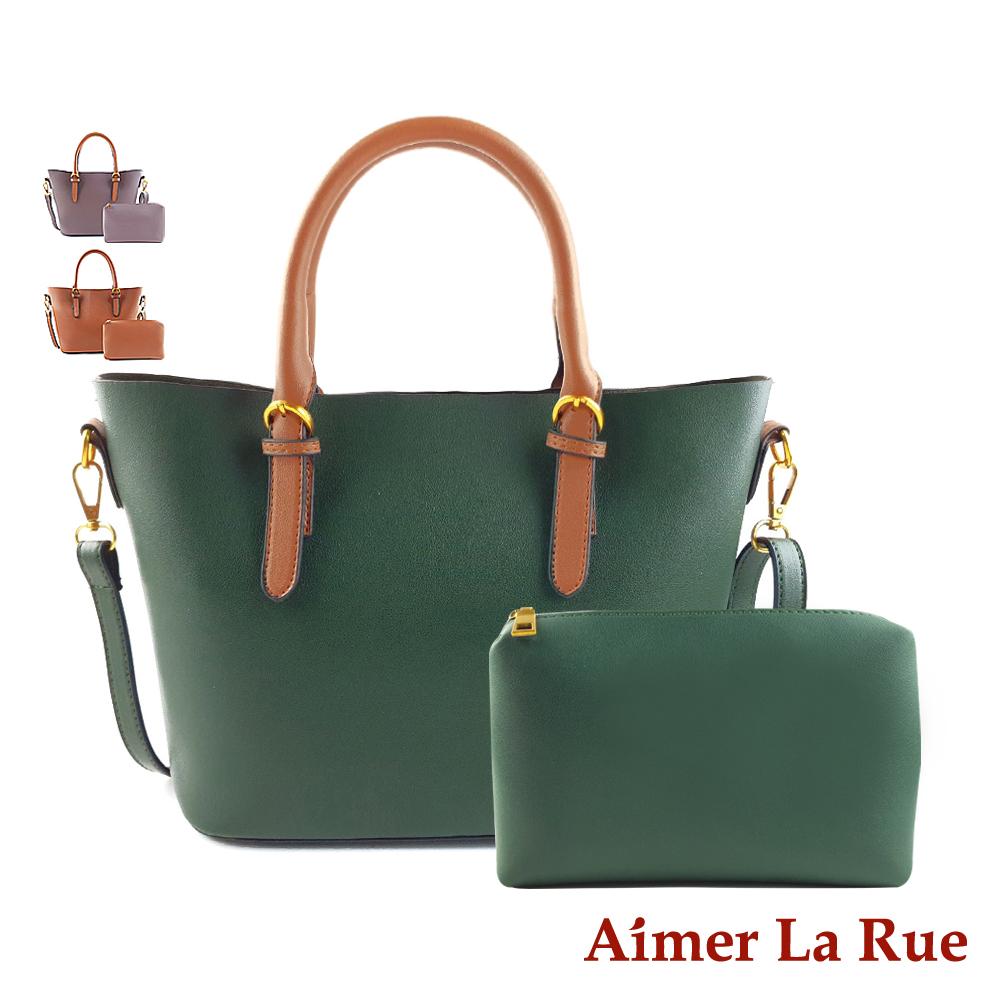 Aimer La Rue 柏林經典撞色手提側背二件組(三色) @ Y!購物
