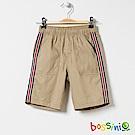 bossini男童-素色輕便短褲深褐